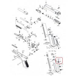 Выпускной клапан магазина CO2 + уплотнительное кольцо /KJW KP-17 CO2 EX VALVE assembly #(84+84-5)