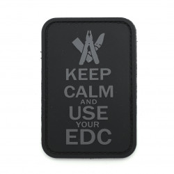 Шеврон Keep calm and EDC черный