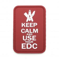 Шеврон Keep calm and EDC красный