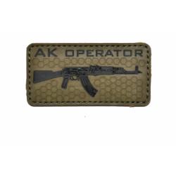 Шеврон АК Operator Olive PVC
