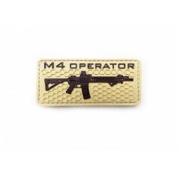 Шеврон M4 operator ПВХ койот