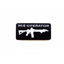Шеврон M4 operator ПВХ черный