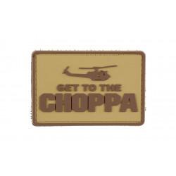 Шеврон Get to the chopper тан
