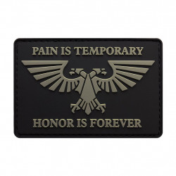 Шеврон Pain is temporary Honor is forever Warhammer 40k PVC