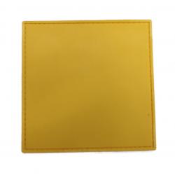 Шеврон патч стороны 10*10 желтый пвх