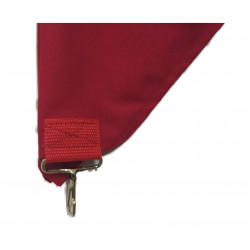 Сигнальная бандана красная с карабином, 56 см