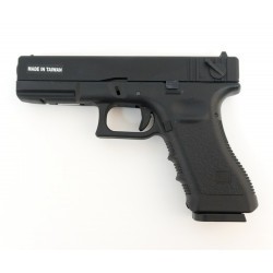 Страйкбольный пистолет Glock G18, CO2, черный (уцененный) (KJW),