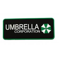 Шеврон Umbrella Corporation надпись PVC зеленая
