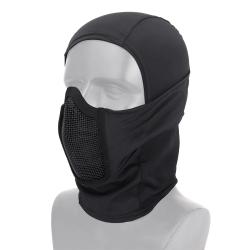 Маска защитная сетчатая на лицо балаклава Shadow Fighter Mask Black (WoSport)