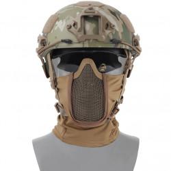 Маска защитная сетчатая на лицо балаклава Shadow Fighter Mask Tan (WoSport)