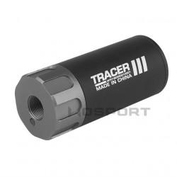 Трассерная насадка Flash silencer 8.8CM 3.5in (14mm CCW, removable battery) Black (WoSport)